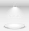 white podium studio background vector image vector image