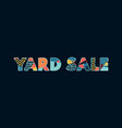 yard sale concept word art vector image vector image