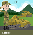 Military soldier weapon cartoon Flat vector image