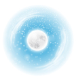 Spherical landscape with fullmoon vector image
