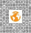 world icons web set vector image