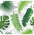 tropical trendy pattern with exotic leaves vector image