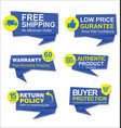 modern stickers and tags blue collection vector image