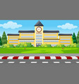 a school building background vector image vector image
