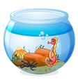 A seahorse inside an aquarium vector image