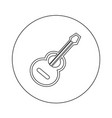 acoustic guitar icon design vector image vector image