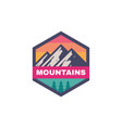 adventure outdoors - concept badge mountain vector image