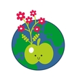 Apple and the Earth icon vector image