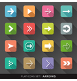 Arrow Sign Flat Icons Set vector image vector image