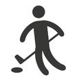athlete sport figure silhouette vector image vector image