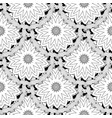 black and white tiled floral seamless pattern vector image