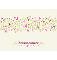 Breast cancer seamless pattern ribbon heart nature vector image vector image