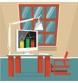 Cartoon office interior vector image