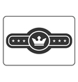 Champion belt icon 4 vector image vector image