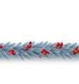 christmas horizontal garland vector image vector image
