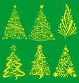 Christmas Tree 1 vector image vector image