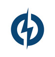 circle lightning bolt logo design vector image vector image