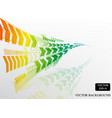 colorful rainbow arrow curve pattern background vector image vector image