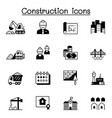 construction icons set graphic design vector image vector image