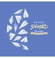 decorating design made of paper planes vector image