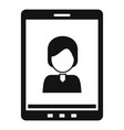 device video call icon simple style vector image vector image