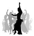 East woman dancers silhouette vector image