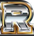 Fancy font Letter R vector image vector image