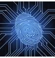fingerprint electronics vector image vector image