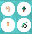 flat icon handicapped set of equipment stand vector image vector image