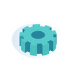 gear mechanism isolated icon vector image