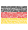 german flag collage of medieval sword items vector image vector image
