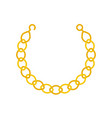 gold chain necklace or bracelet jewelry related vector image