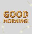 good morning inscription for best vector image