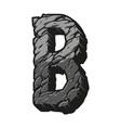 gray letter b desert design concept vector image vector image