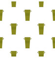 green garbage tank with handles pattern seamless vector image vector image