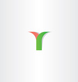 green red letter y logotype logo design vector image vector image