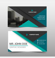 green triangle corporate business card name card vector image vector image