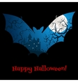 Halloween card with castle vector image