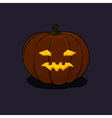 Halloween Vicious Pumpkin on Dark Background vector image vector image