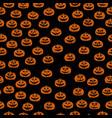 hand drawn jack-o-lantern seamless pattern vector image