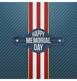 Happy Memorial Day textile Banner and Ribbon vector image vector image