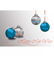 Happy New Year Sparkling baubles vector image