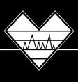 heartbeat emblem graphic vector image