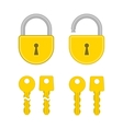 Keys and lock icon vector image vector image
