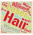 Laser Hair Removal The Good the Bad and the Ugly vector image vector image