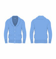 mens blue cardigan vector image