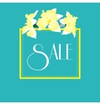 Narcissus sale banner vector image vector image
