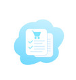 online order e-commerce and shopping icon vector image vector image