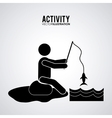 Pictogram doing activity design vector image vector image