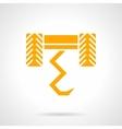 Plow yellow glyph style icon vector image vector image